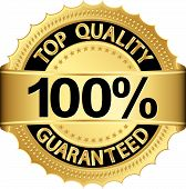 Top Quality 100 Percent Guaranteed Golden Label, Vector Illustration