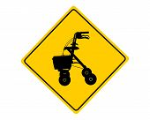 Rollator Warning Sign