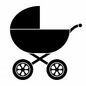 Baby Carriage Silhouette