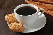 Almond Cookies And Coffee