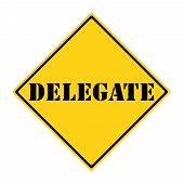 Delegate Sign