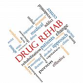 picture of mandate  - Drug Rehab Word Cloud Concept angled with great terms such as patients addicts help and more - JPG