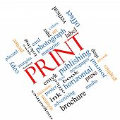 Print Word Cloud Concept Angled