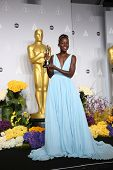 LOS ANGELES - MAR 2:: Lupita Nyong'o  in the press room at the 86th Annual Academy Awards on March 2
