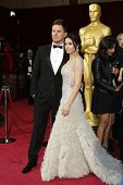 LOS ANGELES - MAR 2:: Channing Tatum, Jenna Dewan  at the 86th Annual Academy Awards at Hollywood &