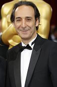 LOS ANGELES - MAR 2:: Alexandre Desplat  at the 86th Annual Academy Awards at Hollywood & Highland C