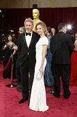 LOS ANGELES - MAR 2:: Harrison Ford, Calista Flockhart  at the 86th Annual Academy Awards at Hollywo