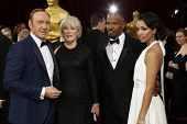 LOS ANGELES - MAR 2:: Kevin Spacey, Glenn Close, Jamie Foxx, Corinne Bishop  at the 86th Annual Acad