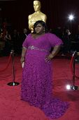 LOS ANGELES - MAR 2:: Gabourey Sidibe  at the 86th Annual Academy Awards at Hollywood & Highland Cen