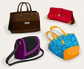 Fashion woman's bags collection