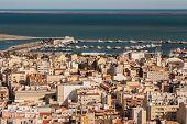 View Of The City  In Amposta, Delta Del Ebro, Catalonia (spain)