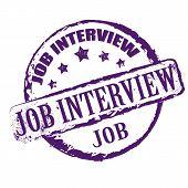 Job Interview Stamp