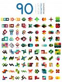 Mega set of geometric shaped infographic option banners - 90 design elements. For banners, business