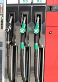 foto of fuel pump  - Gas station fuel pumps - JPG