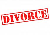 stock photo of divorce-papers  - DIVORCE red Rubber Stamp over a white background - JPG