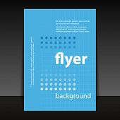 Flyer or Cover Design with Dotted Pattern