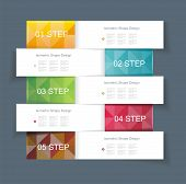 Business Design Template With Color Ribbon Banners.