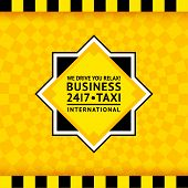 Taxi symbol with checkered background