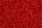 red hearts - tiled pattern