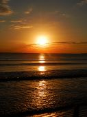 pic of florida-orange  - A sunset on the beach in Florida - JPG