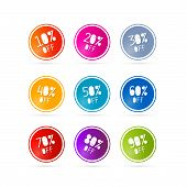 Colorful Vector Sale Discount Tags, Labels