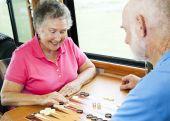 Rv Seniors Play Board Game