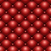 Seamless red buttoned leather upholstery vector texture.