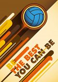 Billiards poster with abstract design. Vector illustration.