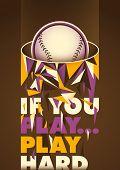 Conceptual baseball poster. Vector illustration.