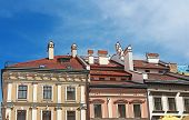 Houses With Red Roofs In The Centre Of Lviv, Ukraine