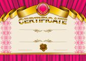 picture of lace-curtain  - Elegant template of certificate - JPG