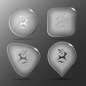 Deer. Glass buttons. Vector illustration.