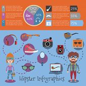 Hipster infographic set