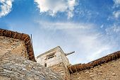 stock photo of jabal  - Image of ruins Wadi Bani Habib in Oman - JPG