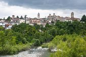 stock photo of molar  - Molare (Alessandria Piedmont Italy): the historic town in Monferrato and the Orba creek