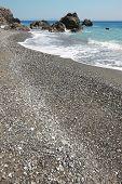 Cretan Pebble Beach. Mediterranean Sea. Greece