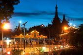 Night Scene Of Soon U Pone Nya Shin Temple,Myanmar.