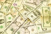 pic of twenty dollars  - banknotes one five ten twenty fifty and one hundrid dollar closeup - JPG