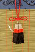 Colorful tassels Charm Pendant in Fushimi Inari Taisha Shrine, Kyoto, Japan.