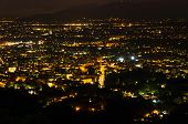 Montecatini Terme by night, near Florence in Tuscany