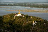 View Of Ayeyarwady River From Sagaing Hill,sagaing Division,Myanmar.