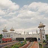 Kuala Lumpur Railway Station with spectacular towers, Malaysia, Asia.