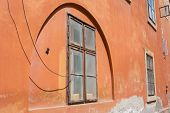 Art Deco Style Wall Arch Terracotta Colored