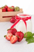 Homemade Yogurt And Strawberries