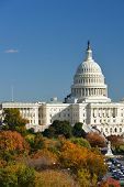 U.S. Capitol Building in Autumn - Washington D.C. United States of America