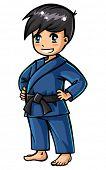 Judo boy character