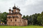 stock photo of trinity  - Church of the Holy Trinity was build in 1557 and shows the influence of Moscow architecture Veliky Novgorod Russia - JPG