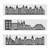 Cityscape icons banner