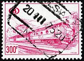 Postage Stamp Belgium 1968 Diesel Train