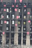 KIEV, UKRAINE - APR 19, 2014:Downtown of Kiev,vandalised during Revolution of Dignity April 19, 2014